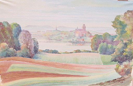 Walter SCHLEPPEGRELL - Drawing-Watercolor - Ratzeburg am Morgen.