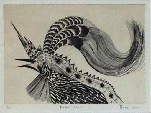 Ian HUGO - Estampe-Multiple - Firebird
