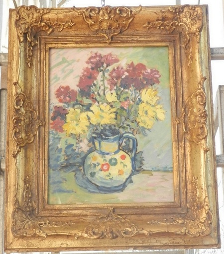 Emil ORLIK - Gemälde - Bouquet in a jar