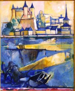 Jacques DESPIERRE - Pittura - Saumur II