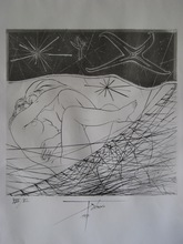 Pierre-Yves TRÉMOIS - Grabado - GRAVURE 1971 SIGNÉE À L'ENCRE NUM/VL HANDSIGNED ETCHING
