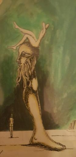 Artur Manuel CRUZEIRO SEIXAS - Zeichnung Aquarell - Perna esotérica