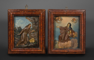 Nicola PECORELLA - Sculpture-Volume - Saint Francis and Saint Claire of Assisi