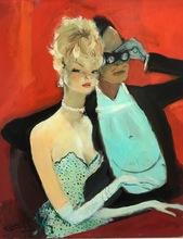 Jean Gabriel DOMERGUE - Painting - À l'opéra