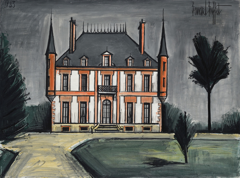 Bernard BUFFET - Painting - Le manoir