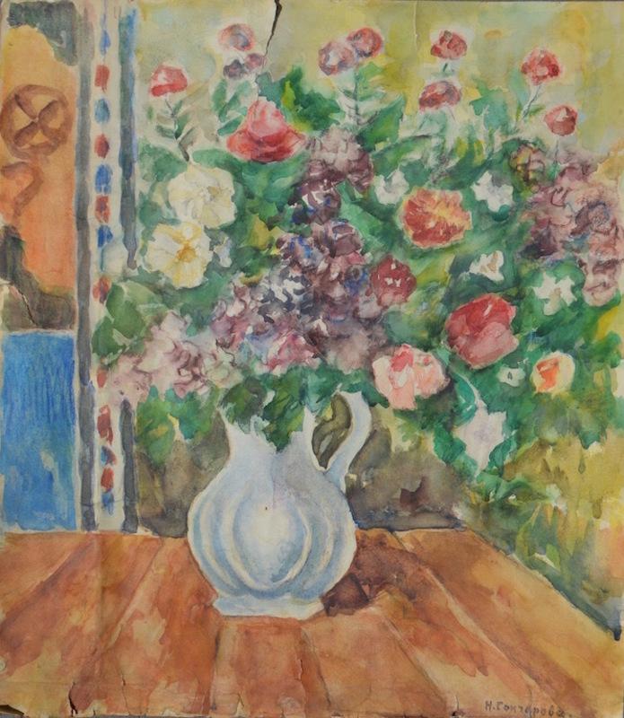 Nathalie GONTCHAROVA - Drawing-Watercolor - Floral still-life