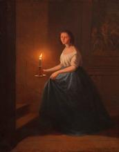 Johann Mongels CULVERHOUSE - Pintura - le coucher