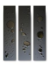 Max COPPETA - Sculpture-Volume - Piogge nere I / II / III