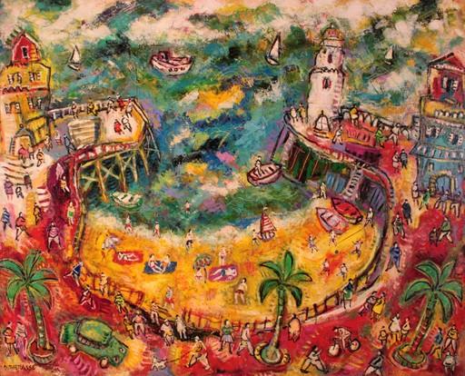 Daniel THERASSE - Painting - Un port en été
