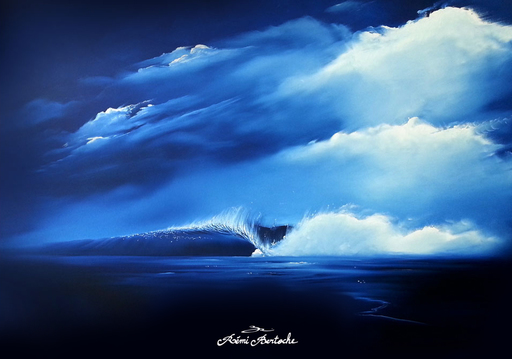 Rémi BERTOCHE - Painting - The Blue Cool