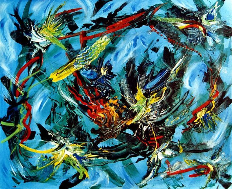 Didier ANGELS - Peinture - Le dédale du temps