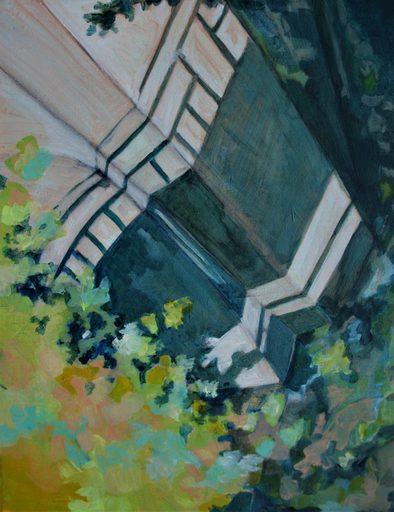"""Aude MOUILLOT - Painting - """"Focus Etang #4"""""""