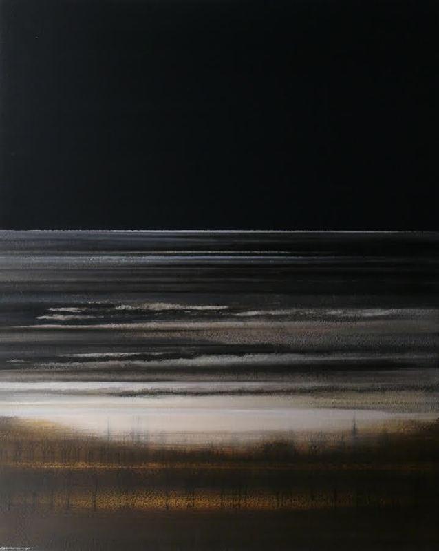 Paul BERGIGNAT - Painting - Anthracite
