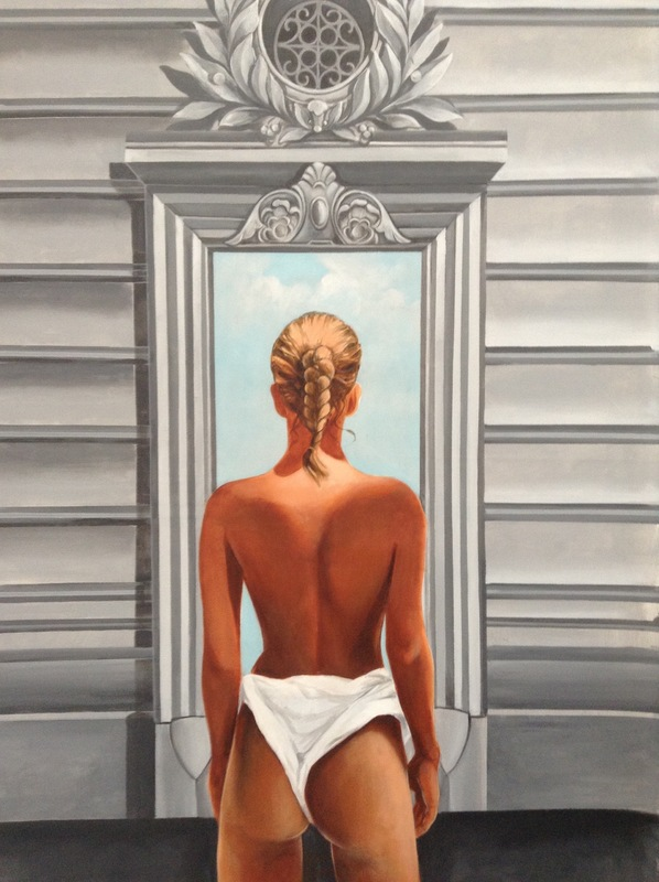 Patrick BRETAGNE - Painting - LA PORTE ETROITE