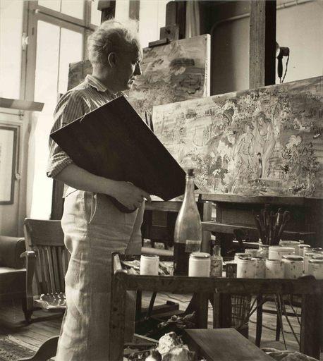 Roger SCHALL - Photo - Dufy dans son atelier