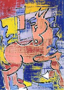 Jacqueline DITT - Estampe-Multiple - Pferd ohne Reiter 2 (Horse without Rider) 1/1 Originalgrafik