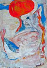 Edgar MELIK - Pintura - PORTRAIT DE FEMME