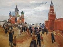 Roland LEFRANC - Painting - Moscou la place rouge