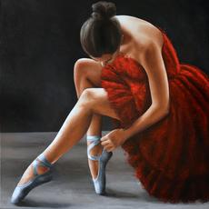 Annick BOUVATTIER - Pintura - Red swan