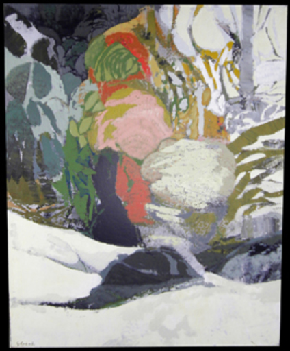 Gabriel GODARD - Pintura - Paysage d'hiver