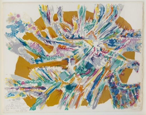 Alfred MANESSIER - Print-Multiple - Composition abstraite