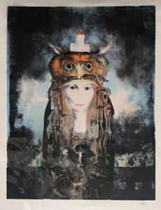 Endre SZASZ - Stampa Multiplo - Owl Woman