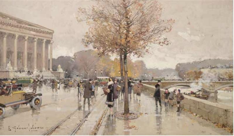 Eugène GALIEN-LALOUE - Drawing-Watercolor - La Chambre des Députés à Paris