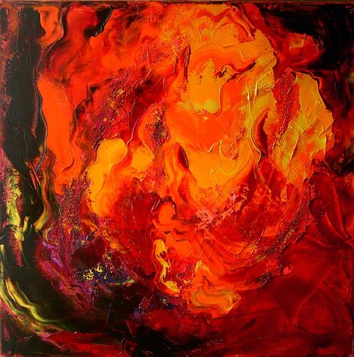 Theodora BERNARDINI - Painting - Ma Flamme