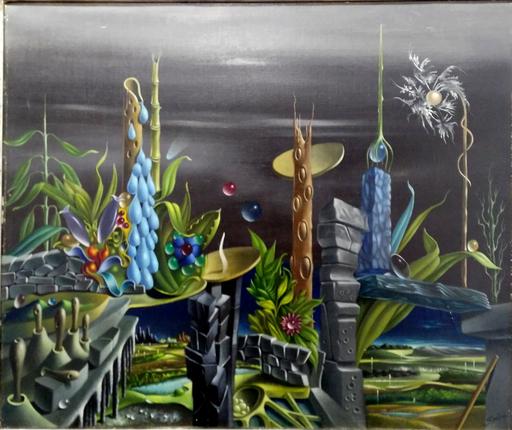 Georges SPIRO - Painting - Paisaje surrealista