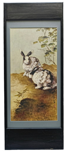 LEE Man Fong - Painting - TWO RABBITS