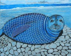 Annemarie HOFFMANN - Painting - BaumSeehund    (Cat N° 6399)