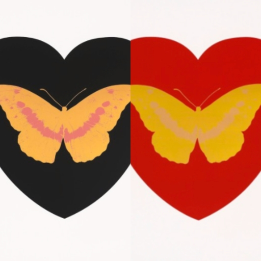 Damien HIRST - Print-Multiple - I Love You (Pair)
