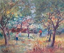 Henri Jean PONTOY - Painting - Le verger