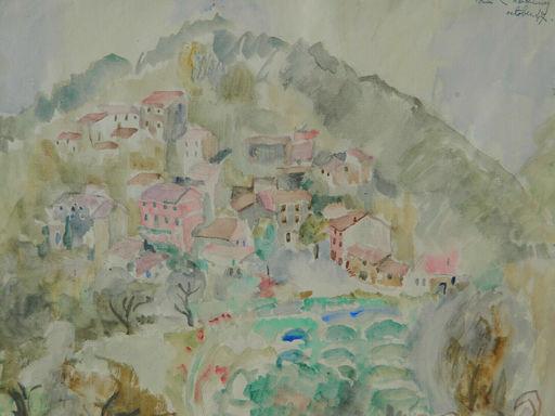 Louise CHARBONNIER - Dibujo Acuarela - PAYSAGE - PROVENCE - PAESAGGIO