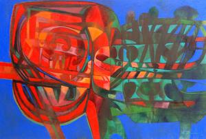 Raul Enmanuel POZO - Pintura - La Silueta vegetal