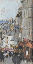 Marko STUPAR - Drawing-Watercolor - Paris Montmartre, la rue Lepic