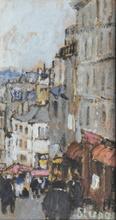 Marko STUPAR (1936) - Paris Montmartre, la rue Lepic