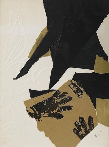 Antoni CLAVÉ - Print-Multiple - Gants noir et ficelle