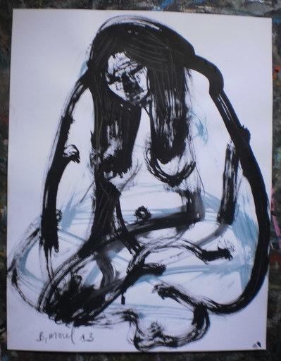 Bernard MOREL - Zeichnung Aquarell - MODELE