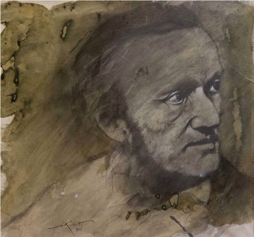 Ernest PIGNON-ERNEST - Drawing-Watercolor - Wagner