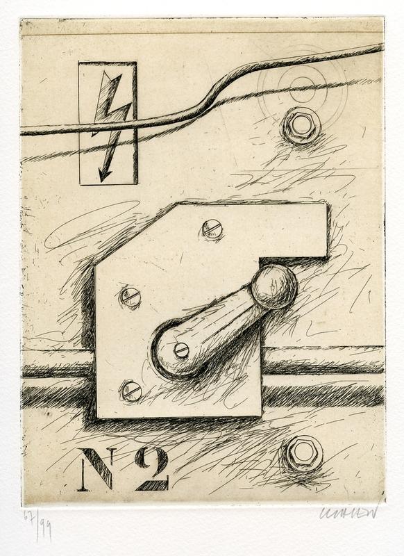 Peter KLASEN - Stampa Multiplo - GRAVURE SIGNÉE AU CRAYON NUM/99 HANDSIGNED NUMB/99 ETCHING