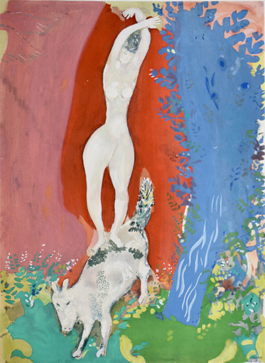 Marc CHAGALL - Druckgrafik-Multiple - Circus Woman | Femme de Cirque