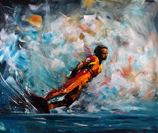 Rémi BERTOCHE - Painting - Old School Surf Style