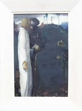 "Erwin STOLZ - Painting - ""Nicodemus Consults Jesus"" by Erwin Stolz, ca 1925"
