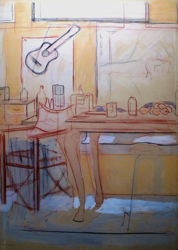Manuel QUEJIDO - Painting - El espacio de la mesa