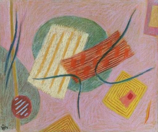"Henri GOETZ - Dessin-Aquarelle - ""Composition"""