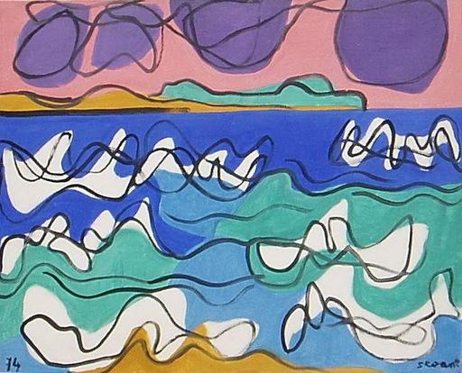 Luis SEOANE LOPEZ - Painting - MARINA MAR DEL ORZAN