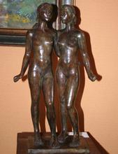 Jacques COQUILLAY - Escultura - Les jumelles