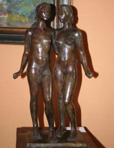Jacques COQUILLAY - Skulptur Volumen - Les jumelles