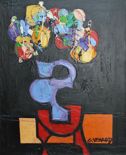 Claude VENARD - Painting - Bouquet de Fleurs